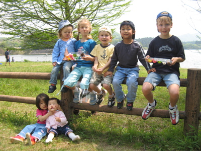 The Thomson & Takamoto kids at a recent picnic